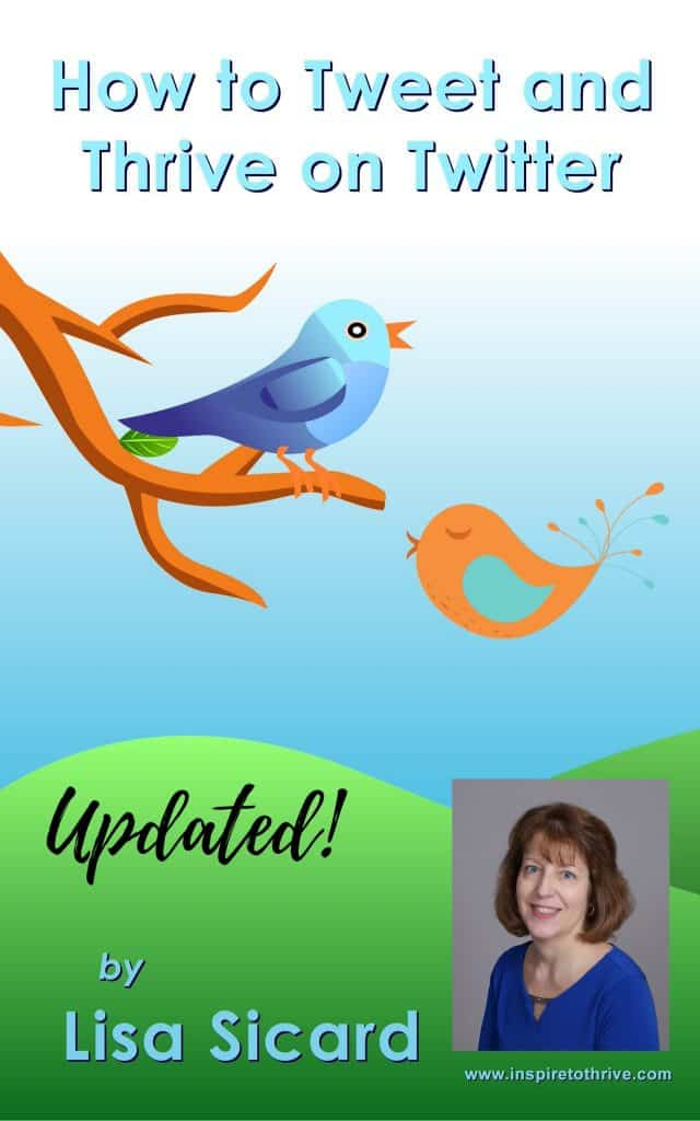 Title Visual for MSSYBiz post featuring Lisa Sicard's new Twitter Book and showig hte book cover with Lisa's pic on it.