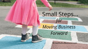 Small Steps for Moving Business Forward Title Visual